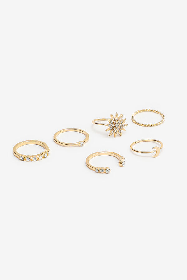 Pack of Celestial Gold Tone Rings
