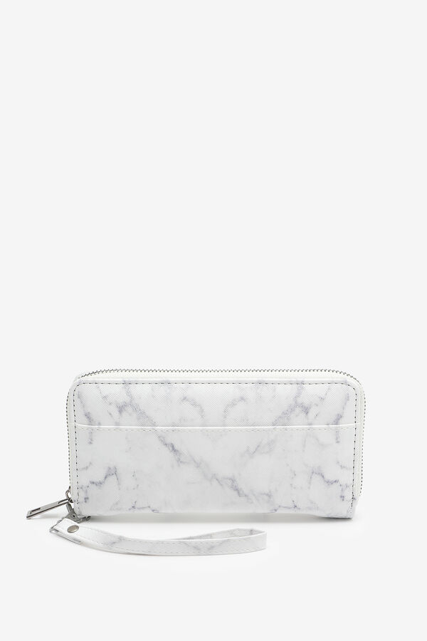 White Marble Accordion Wallet
