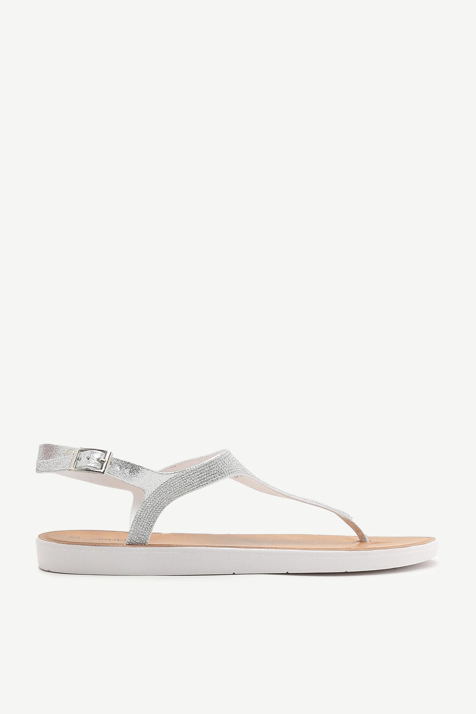Gemstone T-Strap Sandals - Shoes   Ardene