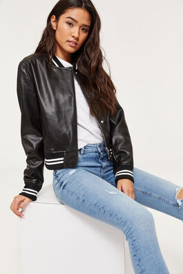 Faux Leather Jackets Clothing For Women Ardene
