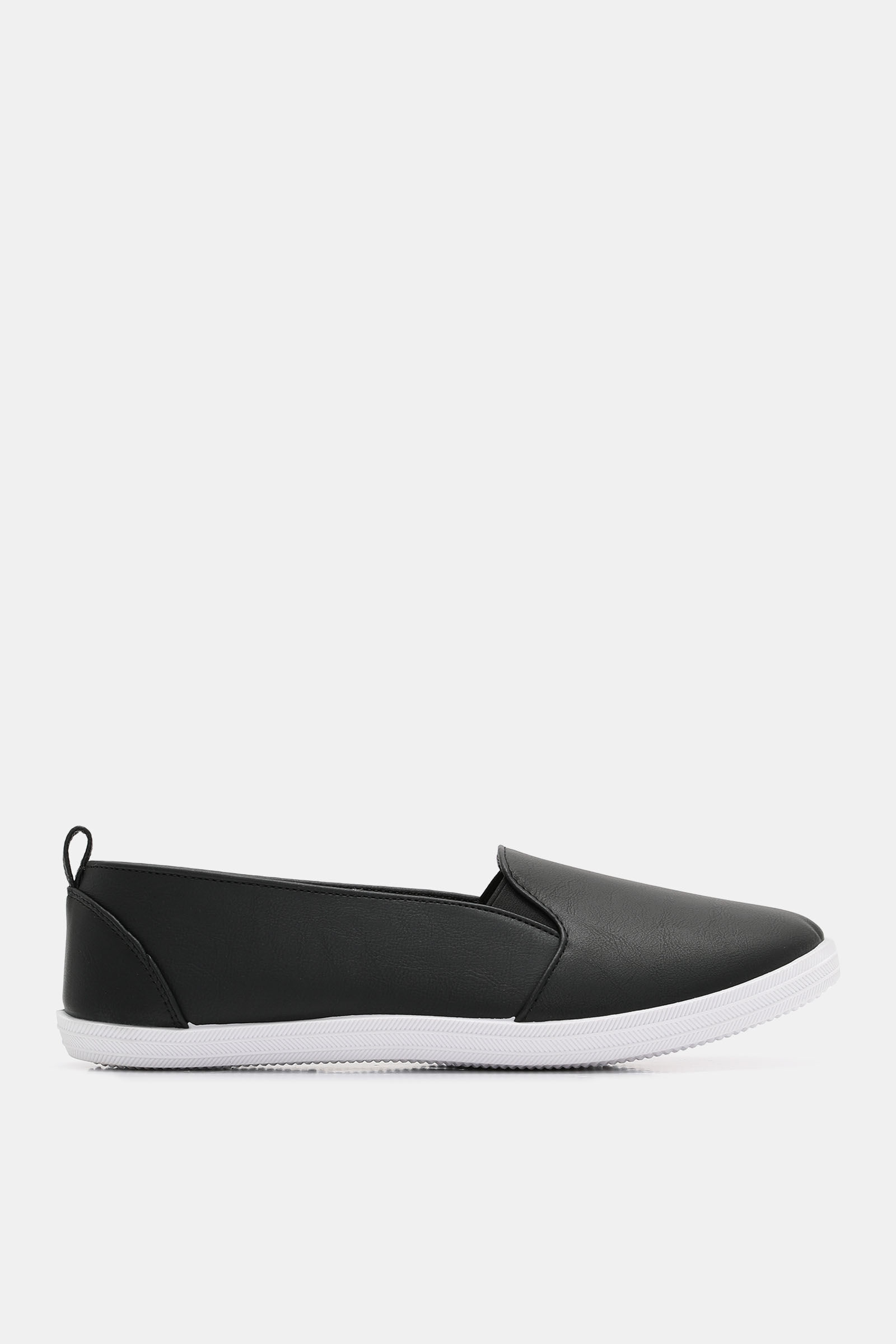 Faux Leather Slip-On Sneakers - Shoes
