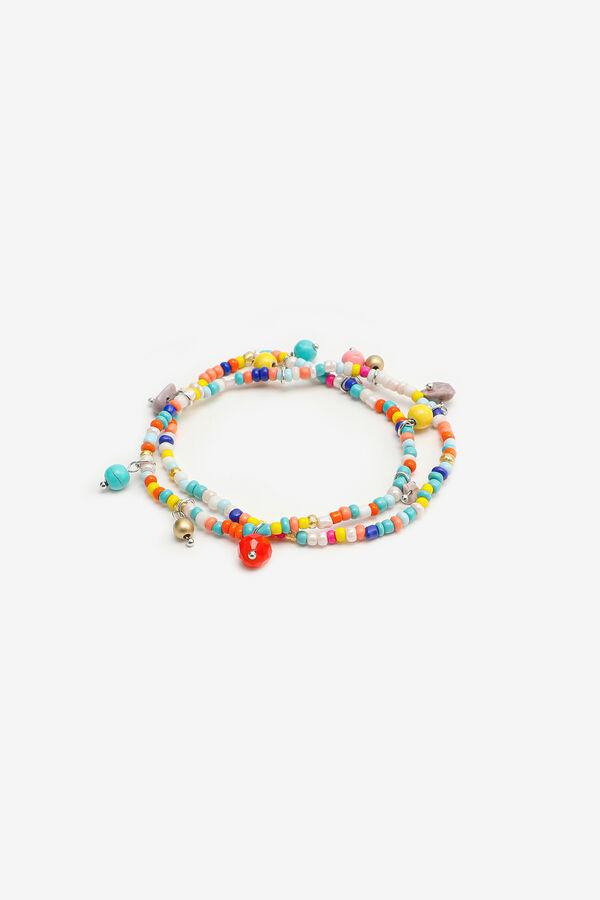 Bracelets de cheville à billes multicolores