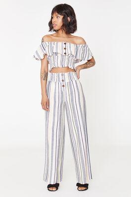 86bdd77990e Striped Smocked Cotton Pants