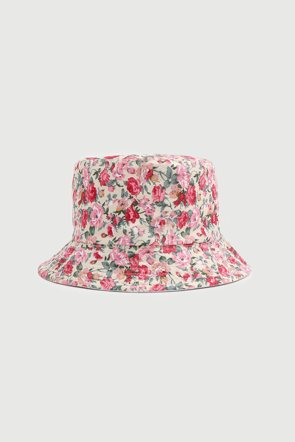 Bucket Hat with Floral Print