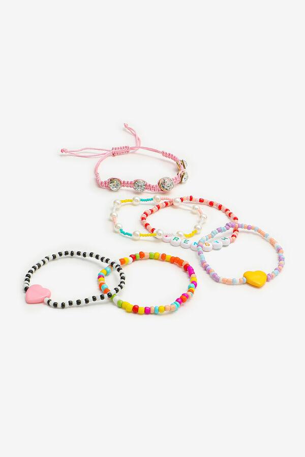 6-Pack Multicoloured Beaded Bracelets
