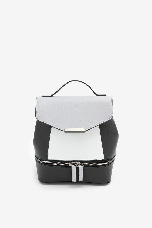 Color Block Flap Backpack