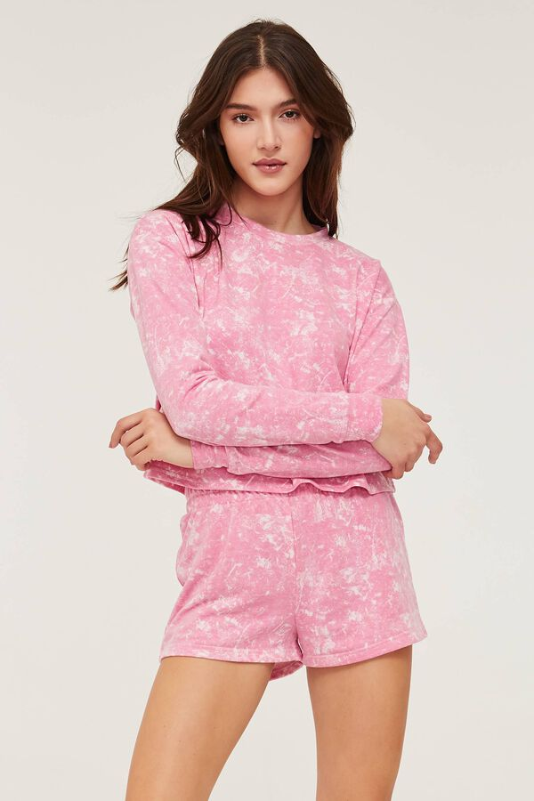 Short de pyjama doux tie-dye