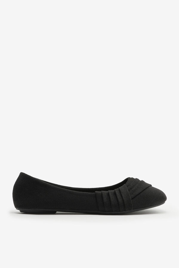 Canvas Pleated Flats