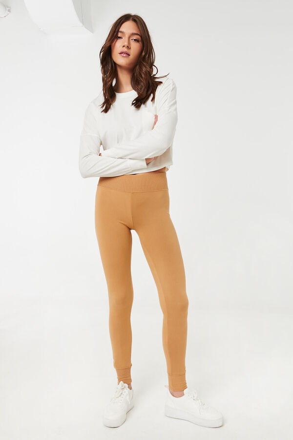 Super Soft Leggings with Ribbed Waistband