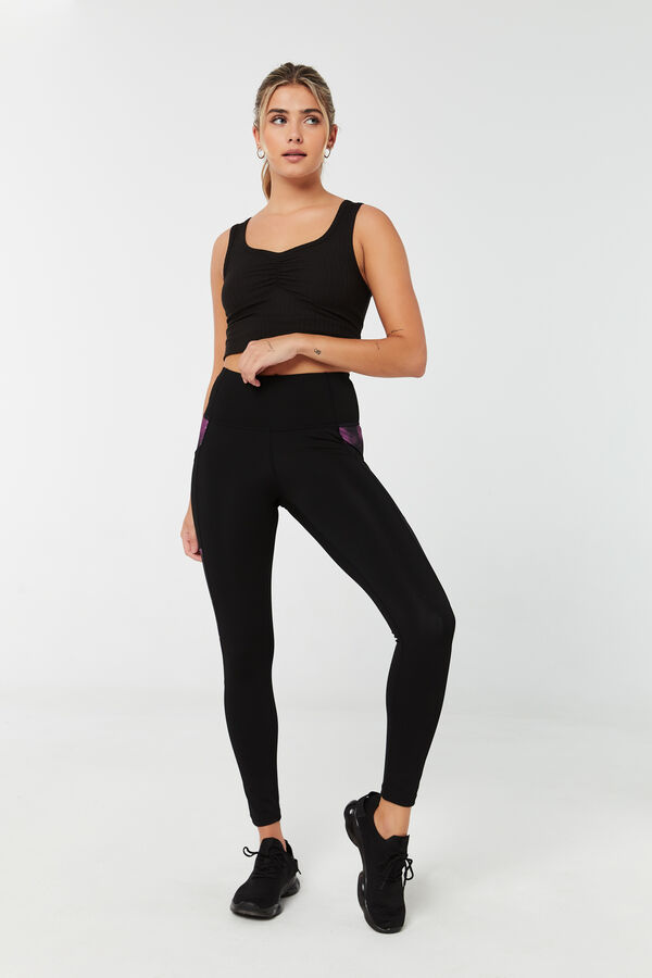 Performance Leggings with Print Inserts