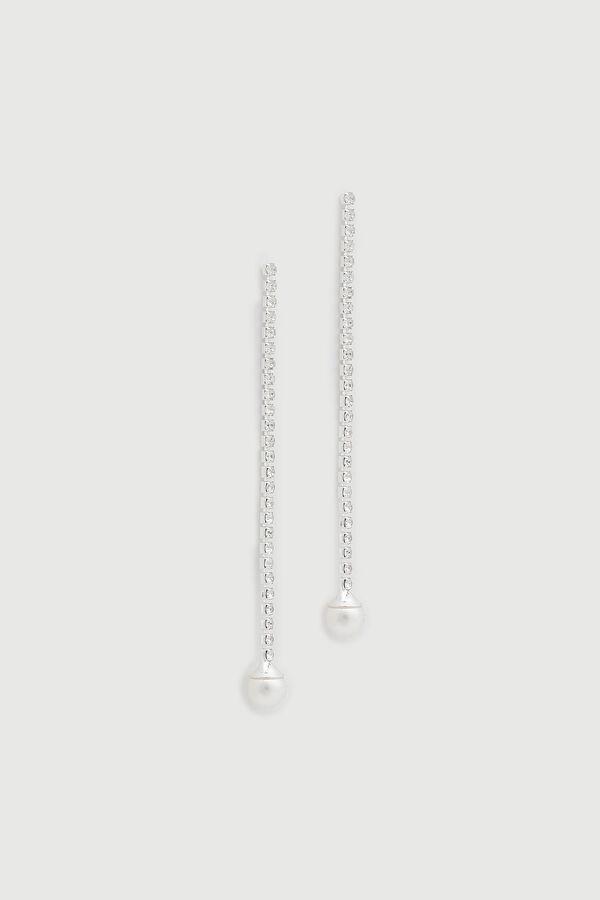 Gemstone and Pearl Earrings