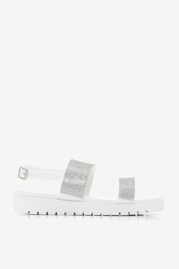 Platform Faux Gem Sandals