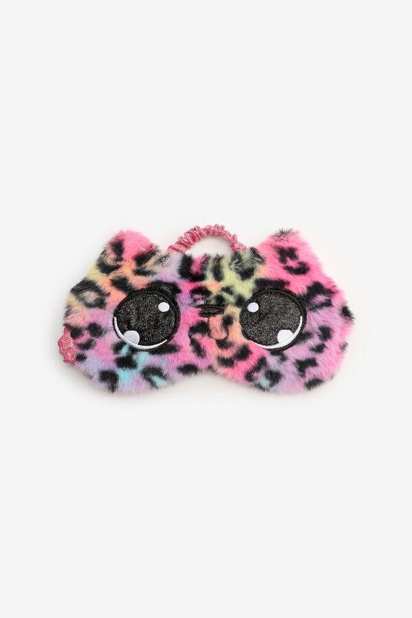 Multicoloured Leopard Sleeping Mask