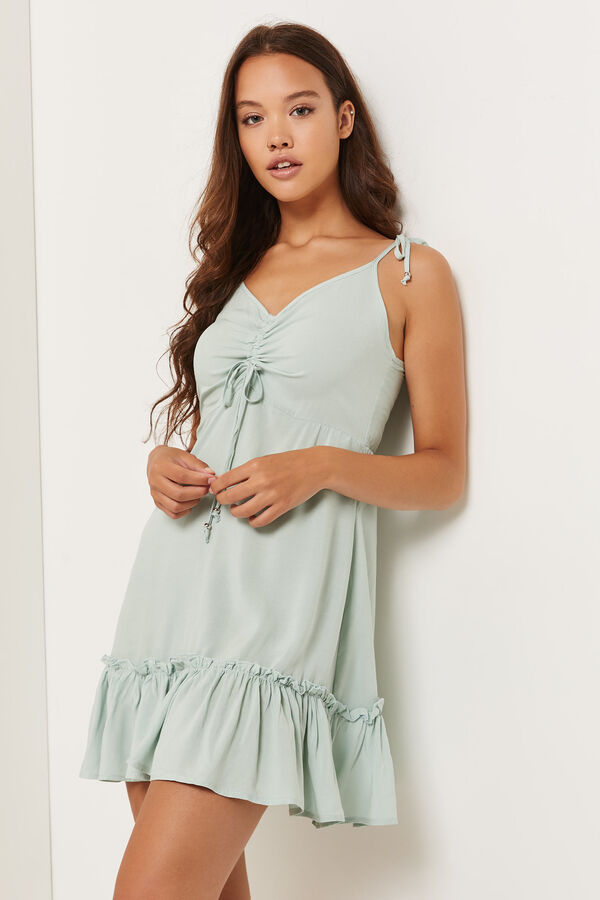 Challis Mini Dress with Ruched Bust