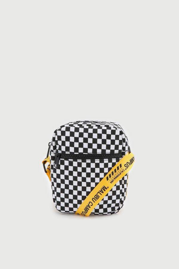 Nylon Checkerboard Crossbody Bag
