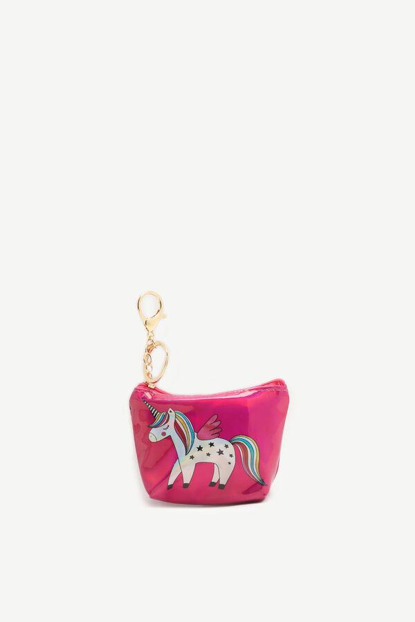 Porte-clés porte-monnaie licorne pour filles