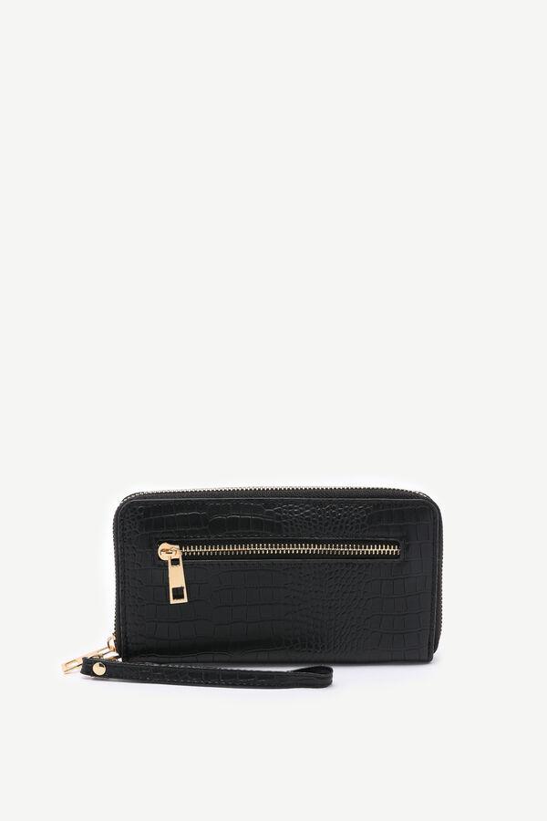 Faux Leather Snakeskin Wallet
