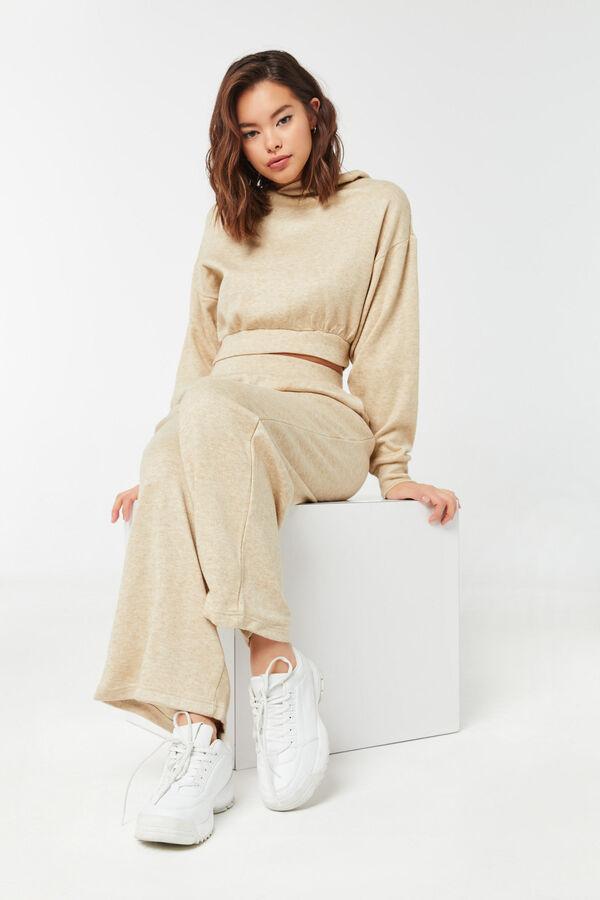 Thick Knit Wide-Leg Pants