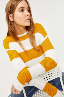 e5c34ed93 EXTENDED SIZES Ardene Women s Striped Sweater