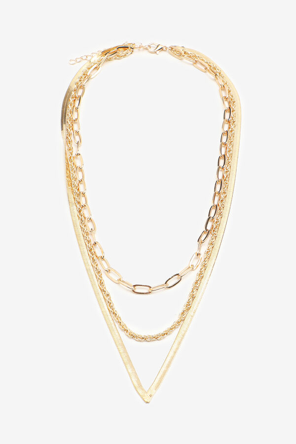 Layered Gold-Tone Mix Chain Necklace