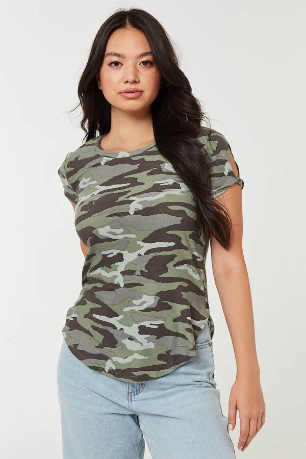 T-shirt tunique camo très doux