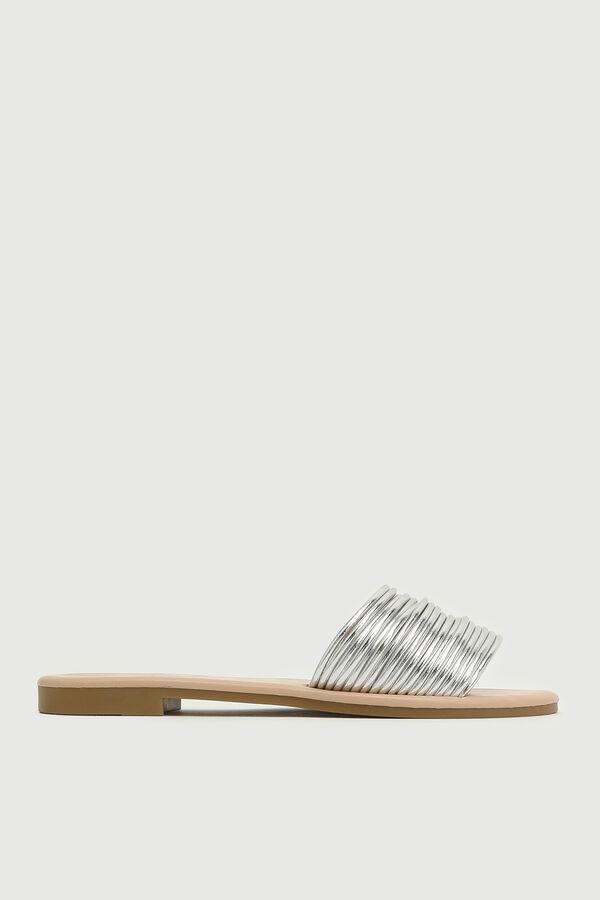 Sandales glissières à courroies multiples