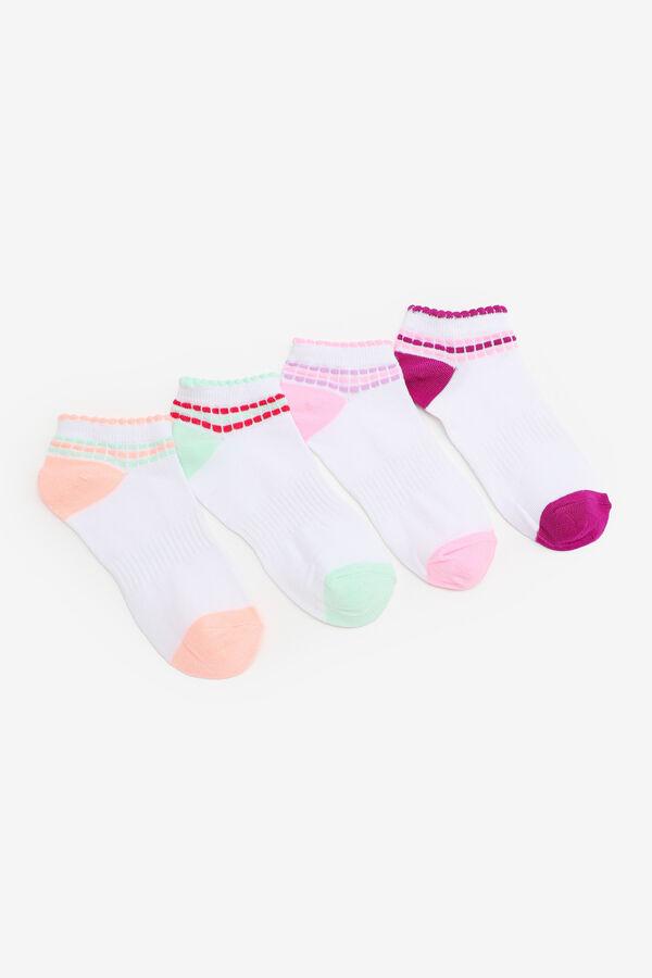 Paquet de 4 paires de socquettes pour filles