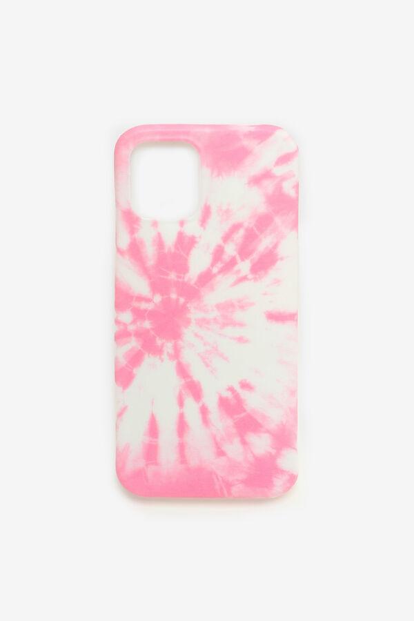 Étui d'iPhone 12 tie-dye rose