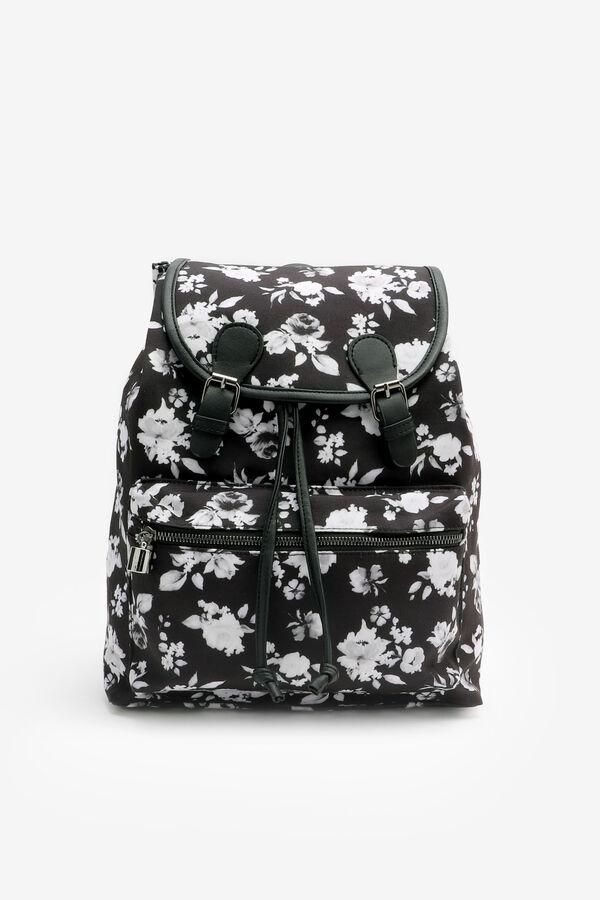 Floral Flap Backpack