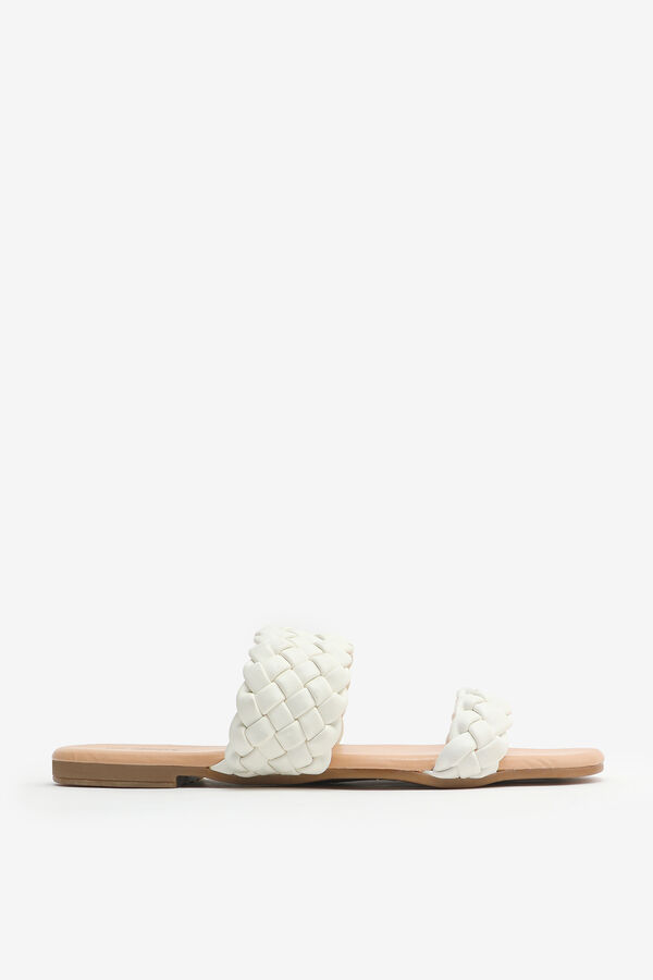 Quilted Faux Leather Sandals