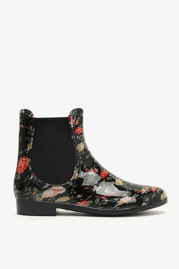 Floral Glossy Rain Boots