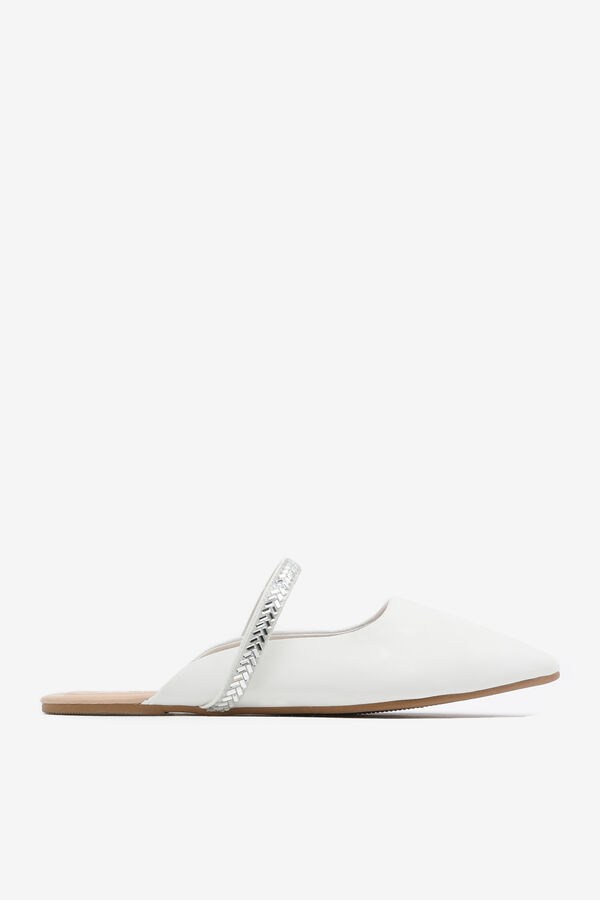 Pointy Toe Mules with Gemstone Strap