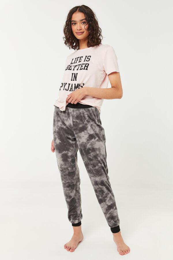 Jogging pyjama en minky tie-dye
