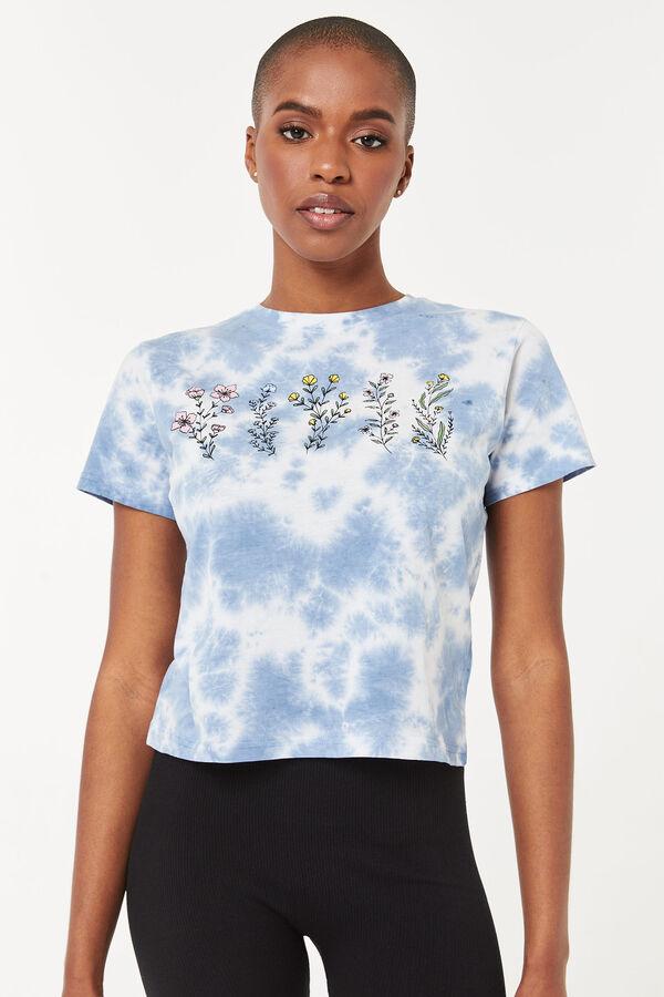 T-shirt tie-dye avec fleurs