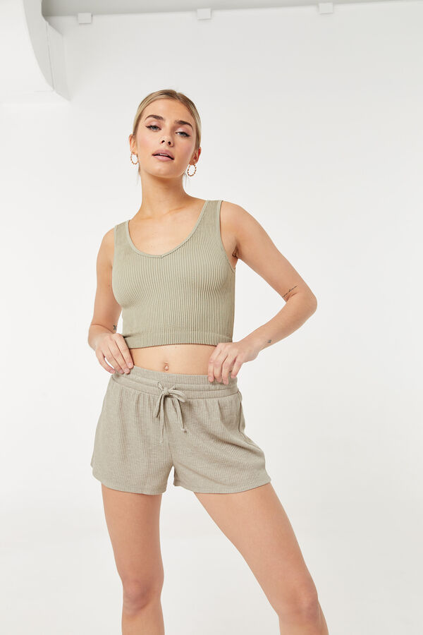 Lounge Ribbed PJ Shorts