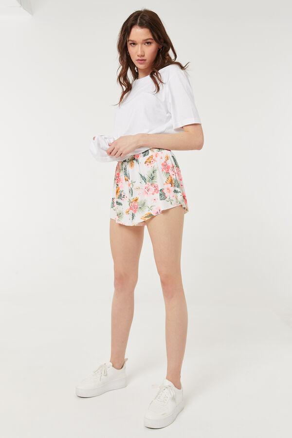 Basic Floral Smocked Shorts