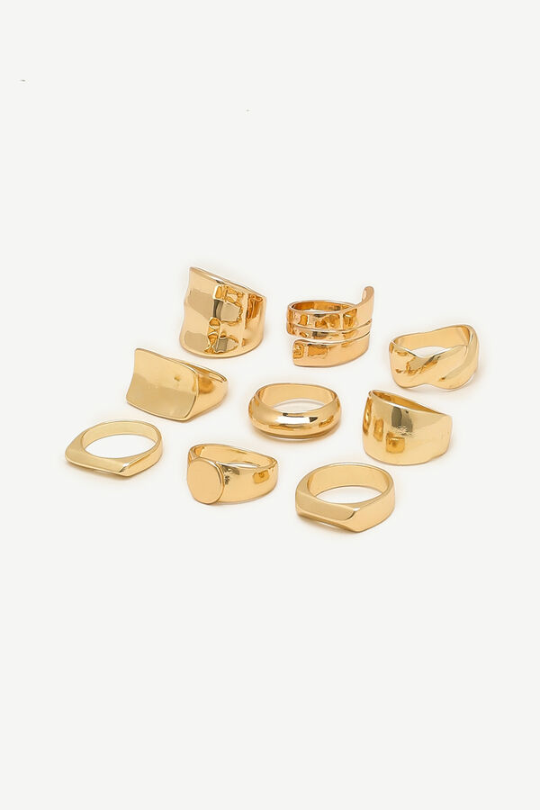 Thick Gold-Tone Rings