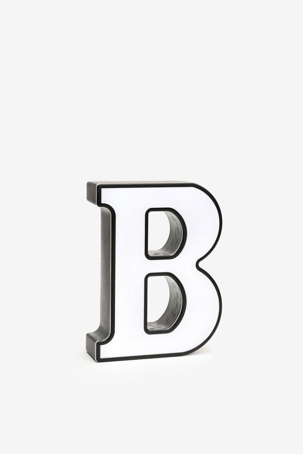 Lettre B lumineuse