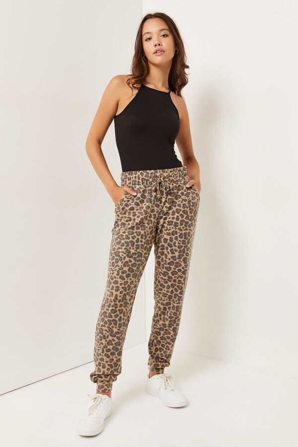 Leopard Slouchy Joggers