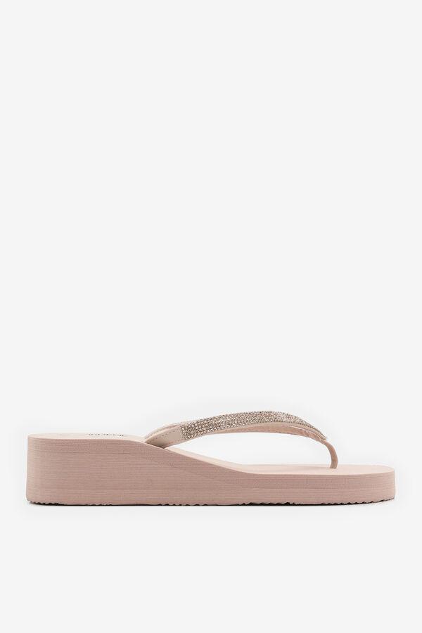 Platform Heel Gemstone Flip-Flops