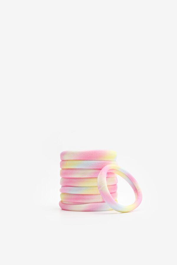 Paquet d'élastiques à cheveux multicolores