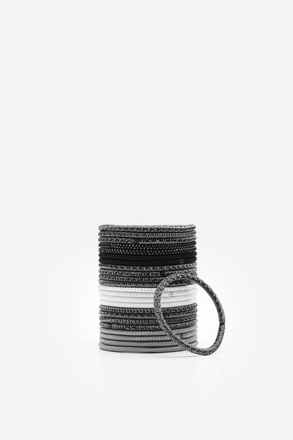Pack of Black & White Tone Hair Elastics
