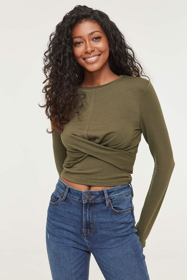 Cropped Twisted Tee