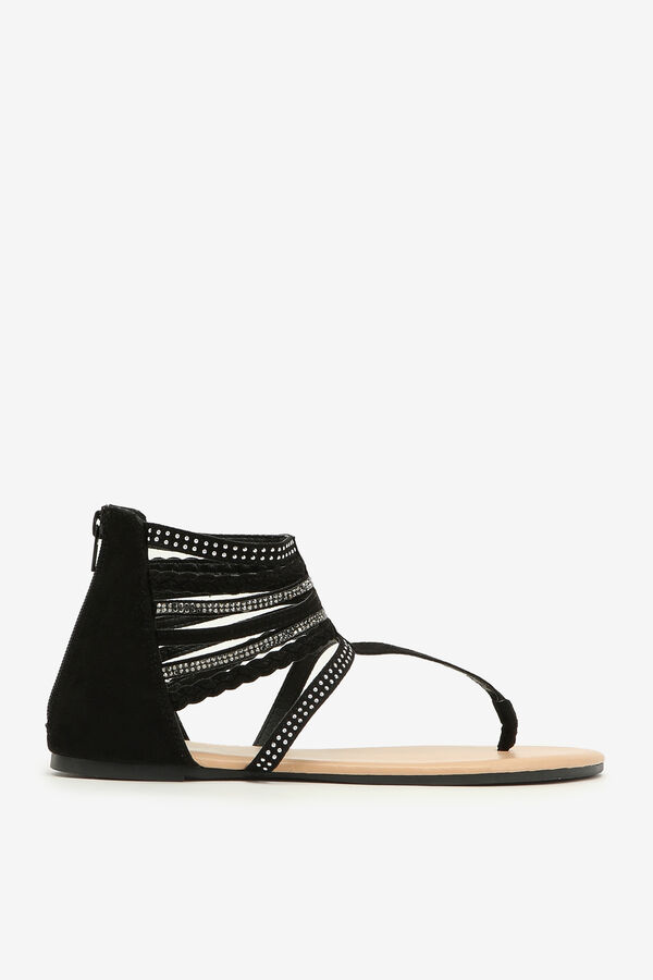 Strappy T-strap Sandals