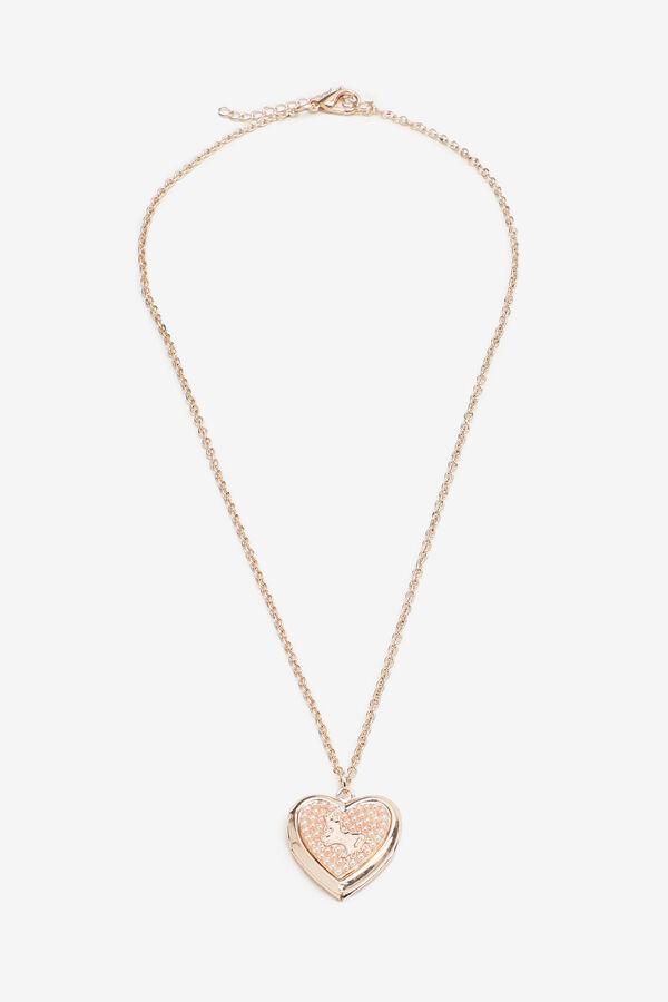 Collier à médaillon en coeur pour filles