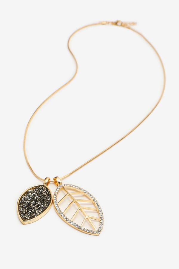 Long collier à feuilles