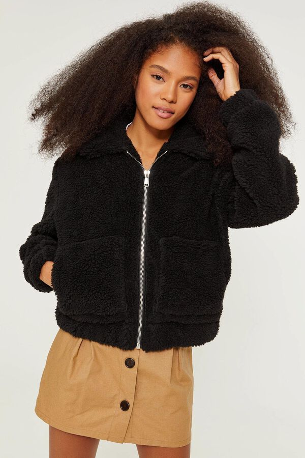 a388b72620d Faux Sherpa Bomber - Clothing | Ardene