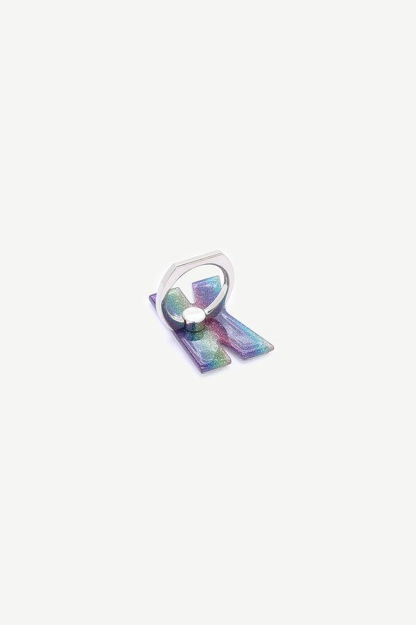Glitter Letter Phone Ring