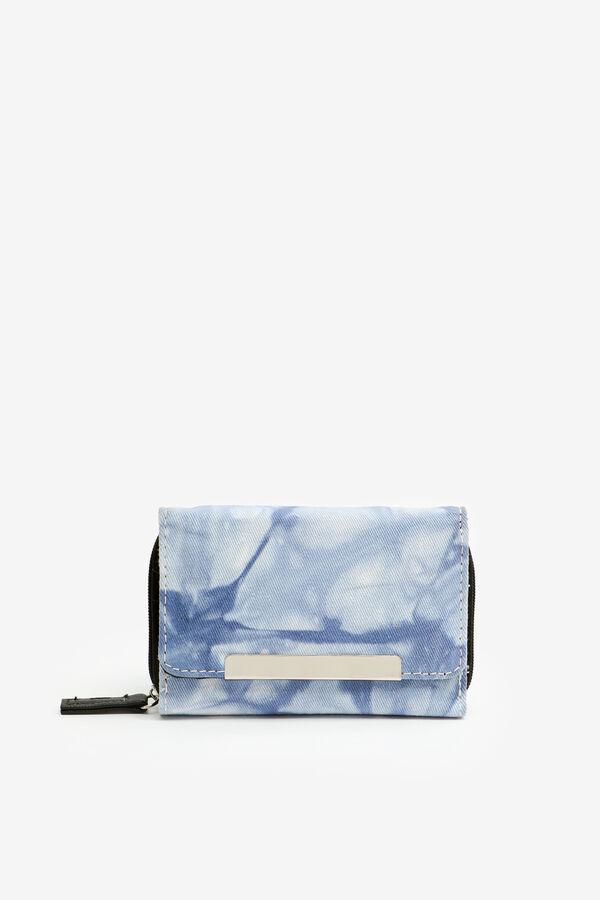 Tie-Dye Faux Leather Folded Wallet