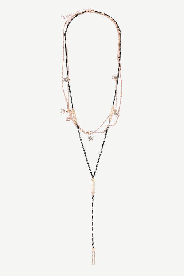Collier superposé à pendentif
